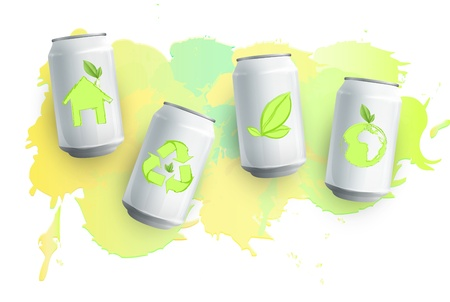 Tin with eco icon inside  Vector design  Vector