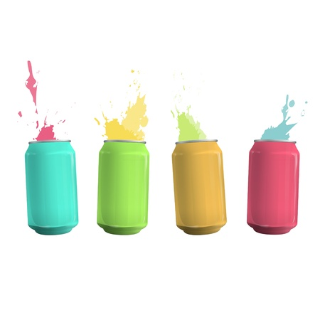 Colorful tin con drop background  Vector design Stock Vector - 17787059