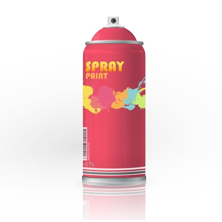 hairspray: Spray color with graffiti drop  Vector design