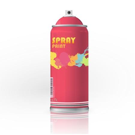 hairspray: Spray de color con el dise�o de la pintada del vector gota