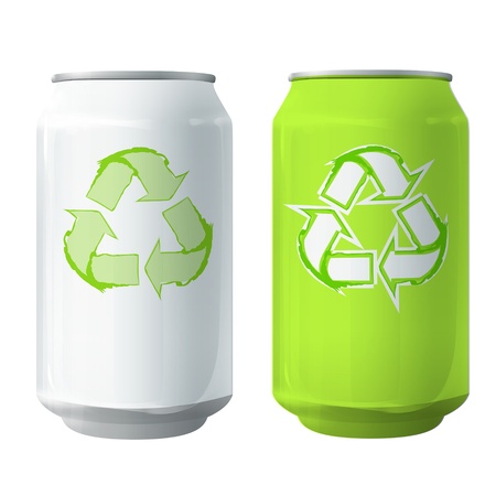 Tin with recycling icon  Vector design  Vector