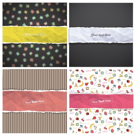 Collection of backgrounds  Vector design
