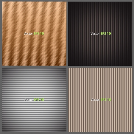 plastic texture: Texture brown leather, brown corrugated cardboard texture, and grey plastic texture  Collection images of vector background design   Illustration