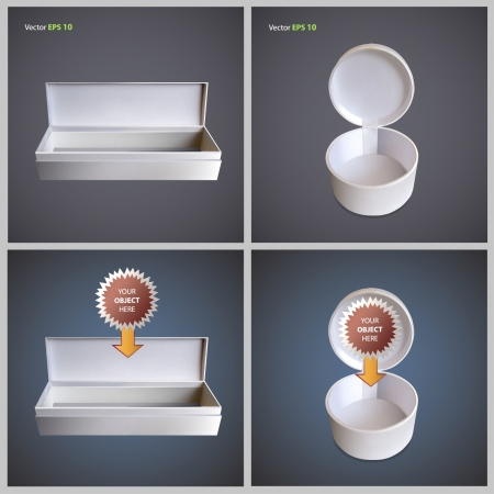 Open white box for insert object  Collection vector design   Vector