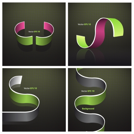 Abstract background with green and pink curved line. Collection vector web design. Stock Vector - 17907888
