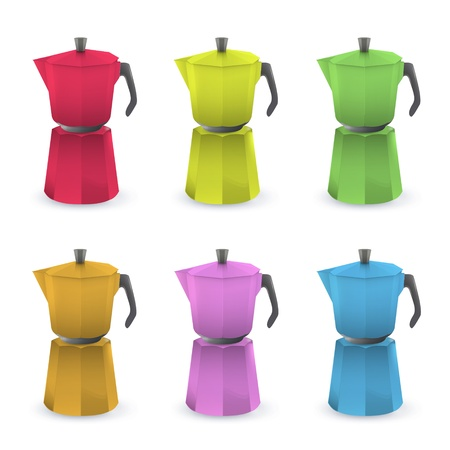 Colorful coffee pot. Vector design Vector
