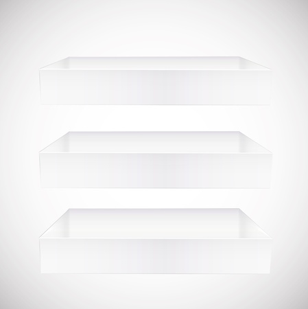 shelves on white background. Vector design. Vector