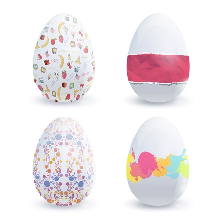 Easter egg with cute designs  design  Vector