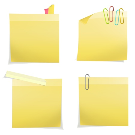 Yellow post it. Vector design Stock Vector - 18255356