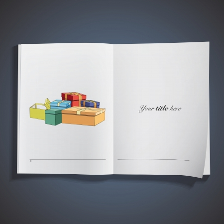Gift printed on book. Stock Vector - 18496719