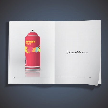 Spray printed on book.  Vector