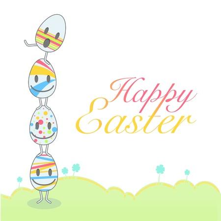 Cute eggs for easter. Vector design. Stock Vector - 18541597