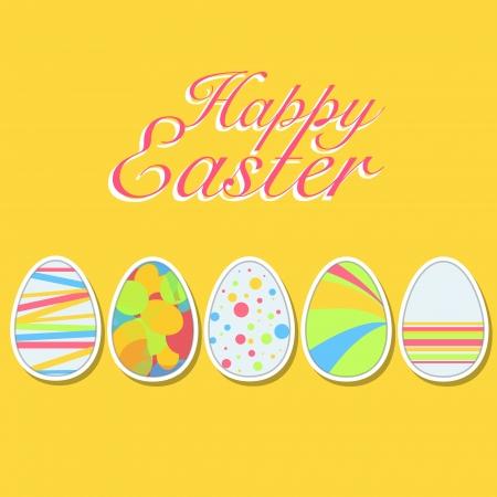 Happy easter eggs. Vector design. Stock Vector - 18541599