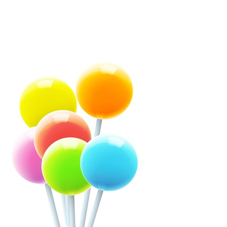 Set of colorful lollipops. Vector design. Stock Vector - 18541606