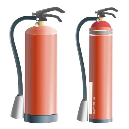 Het verzamelen van realistische brandblusser. ontwerp.
