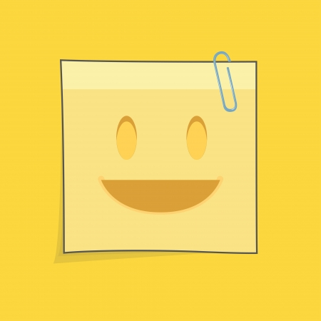 Cute yellow post-it  Vector