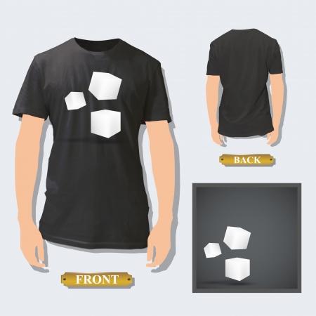 white boxes inside a shirt  Vector design  Vector