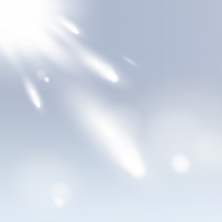 Beautiful sky with meteorite. Vector design. Illustration
