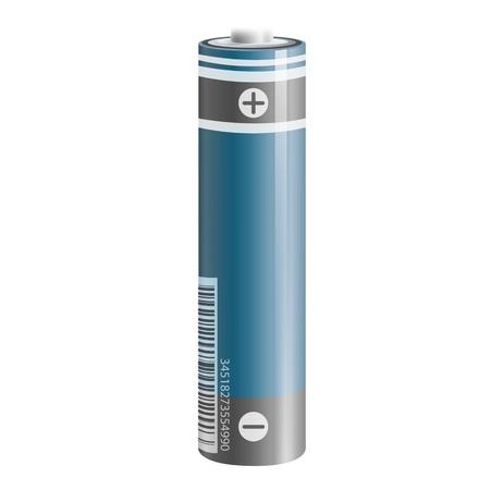 Realistic battery. Vector design. Stock Vector - 18727175