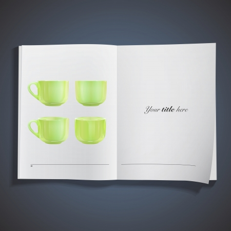 Collection of green cups.  Vector