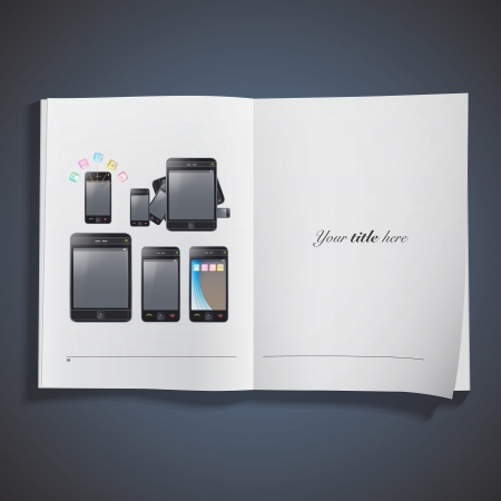 Set of phones with different forms. Stock Vector - 18904115