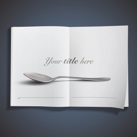 Realistic spoon. Stock Vector - 18904107