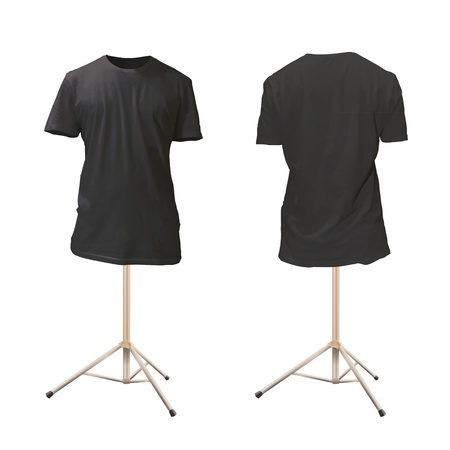 t shirt model: Empty black shirt design