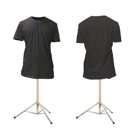 Empty black shirt design