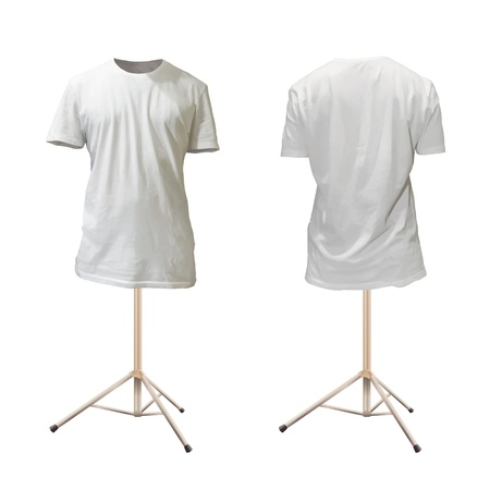 Empty white shirt design