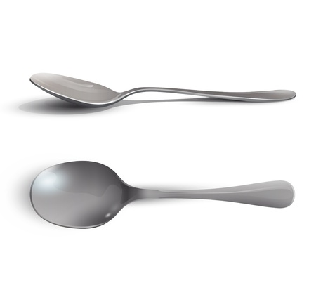 eating utensil: Collection of spoons   Illustration