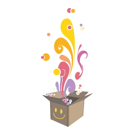 Box with colorful design. Stock Vector - 19198313