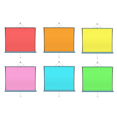 colorful projector screen. isolated design. Stock Vector - 19198318