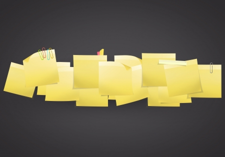 postit note: Yellow Post-it on black background  design