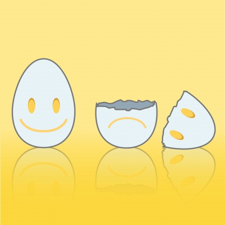 Eggs on yellow isolated background. Vector design. Stock Vector - 19267123