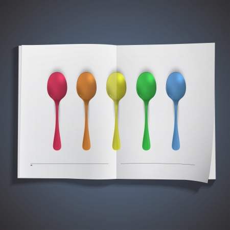 Realistic colorful spoon design. Stock Vector - 19267139