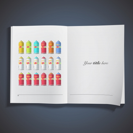 Collection of Spray color with graffiti . Vector design. Vector