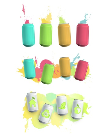 Colorful can drop background. Vector