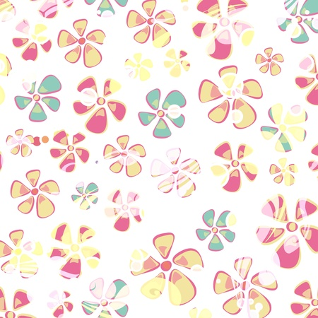 Hippie colorful flower background. Vector