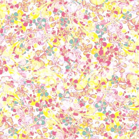 Hippie colorful flower background.  Illustration