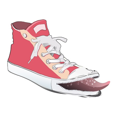 Fashion pink shoe. Vector design.  Vector
