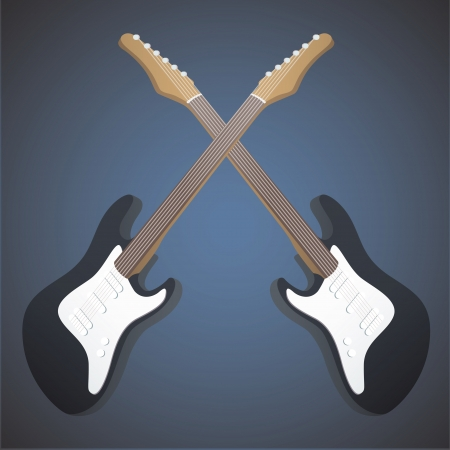 Realistic bass on blue background. Stock Vector - 19745375