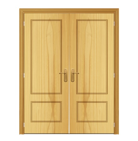 wood door on isolated background. Vector design. Stock Vector - 19745405