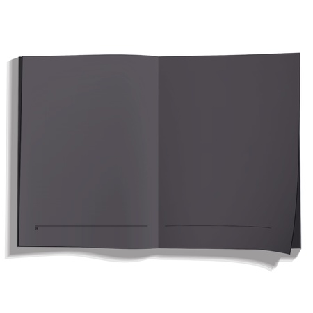 Black book on white background. Vector design Stock Vector - 19745403