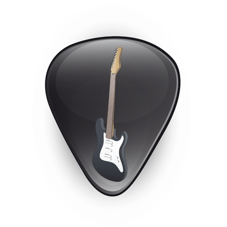 plectrum: Black plectrum on white background  Vector design