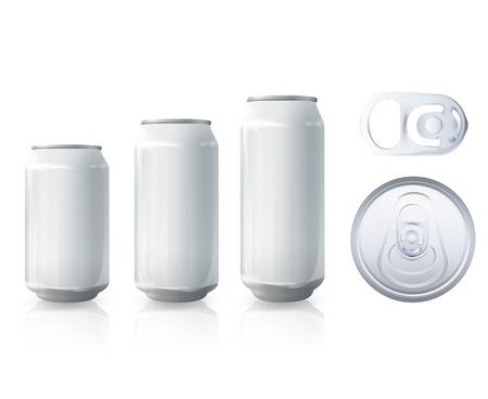 alcohol bottles: Tin collection. Vector design.