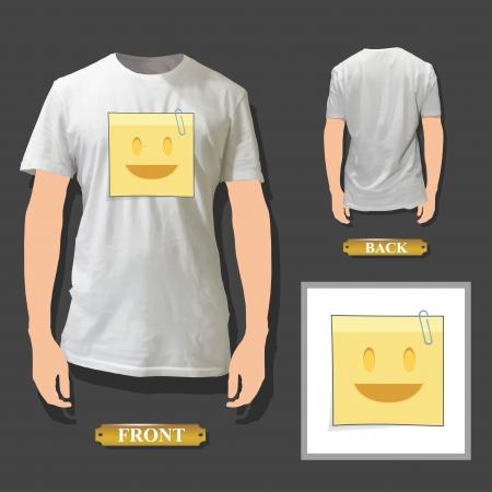 Post printed on white shirt  Vector design Stock Vector - 20011682