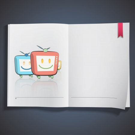 Three TVs on book. design. Stock Vector - 20198694