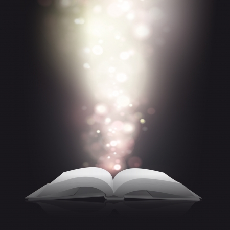 blurred lights: Blank book with blurred lights  design