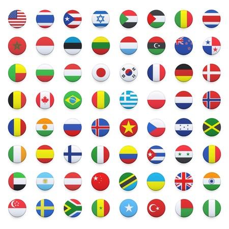 bandiera inghilterra: Raccolta di bandiera pulsante di progettazione di design Editoriali