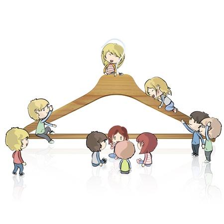 Los niños de todo el diseño de suspensión